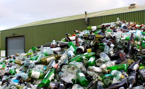 The council had been sending used glass bottles south for recycling as it was cheaper. Photo: Shetland News/Chris Cope.