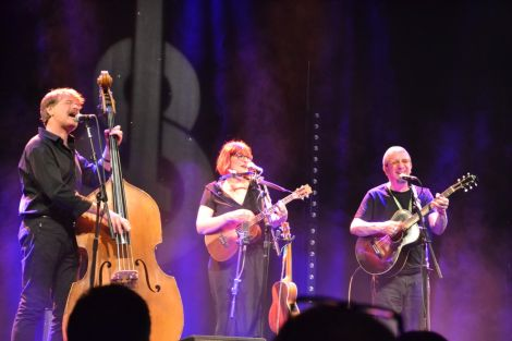 Veronica and the Red Wine Serenaders at Mareel on Friday night. Photo: Shetland News.