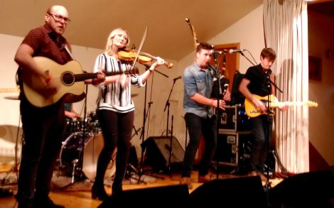 Scott Wood Band topped off a diverse bill in Brae. Photo: Chris Cope.