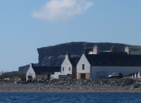 The listed store building at Hillswick's waterfront has been transformed into an art gallery. Photo: Tom Morton