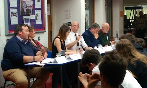 Five of the six candidates attended Tuesday's hustings at the Brae High School. Photo: Patrick Mainland