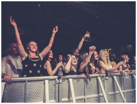 The Clickimin crowd in full party mode during Friday night's Spangin' Spree. Photo: Lieve Boussauw.