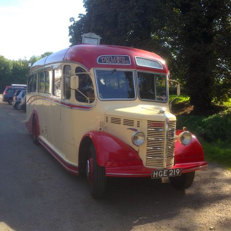 The 67 year old Bedford OB Coach is setting off on a 11 day journey home to Shetland.