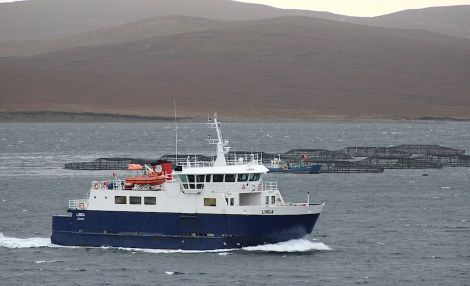 The Whalsay ferry Linga.