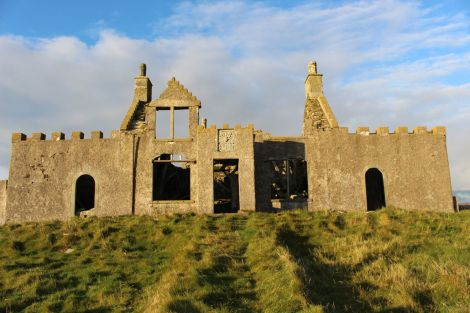 The Windhouse sits on top of a hill in Mid Yell. Photo: Shetland News