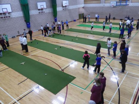 Active Schools staff have been working with local coaches to connect school pupils with club opportunities, including bowling. Photo: SIC