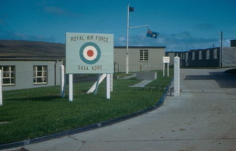 The RAF base at Saxa Vord before it was closed and turned into holiday accommodation. Photo: Unst Heritage.