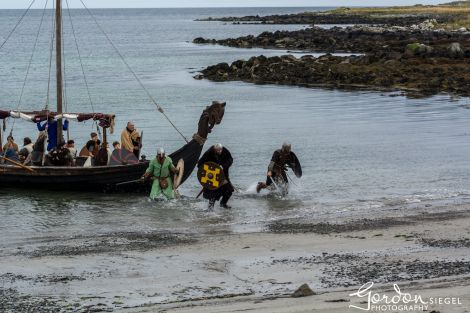 Vikings landing at Haroldwick, Unst. All photos: Gordon Siegel