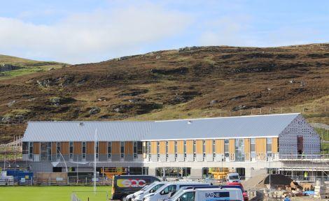 The new Anderson High School hostel during construction last year. Photo: Hans J Marter/Shetland News