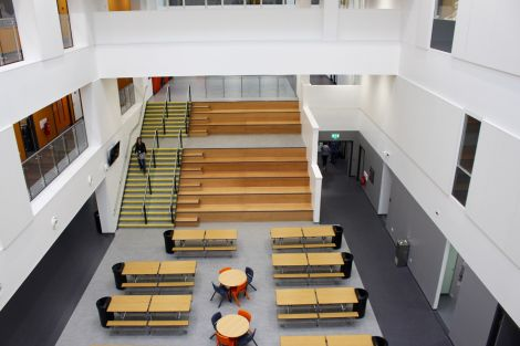 The main atrium space which can be viewed from all floors. All photo: Chris Cope/Shetland News