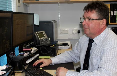 SIC estate operations manager Carl Symons has overseen the roll-out of the system. Photo: Chris Cope/Shetland News