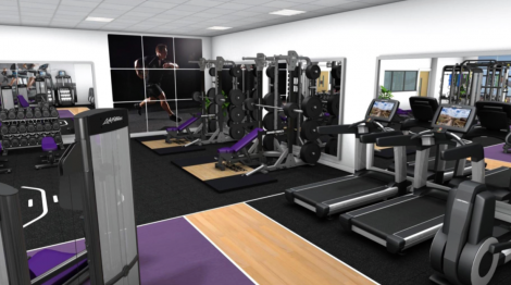 A graphic of what the gym could look like. The designs for the site have been made by local company PJP Architects.
