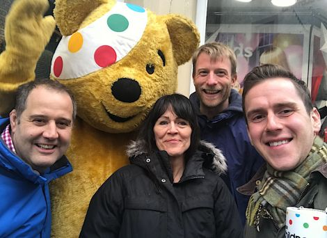 The team at BBC Radio Shetland is looking forward to a busy Children in Need night.