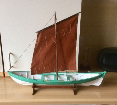 ...and a model of a Shetland yoal.