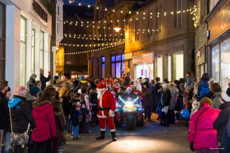 The annual Living Lerwick Christmas lights switch-on parade takes place on Saturday afternoon.
