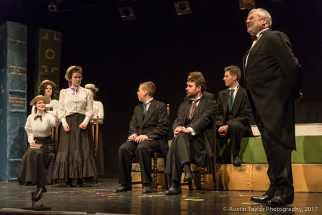 Tess (Sula Brookes) stands up to Dr Maudsley (Andy Long) in the lecture hall. Photo: Austin Taylor.