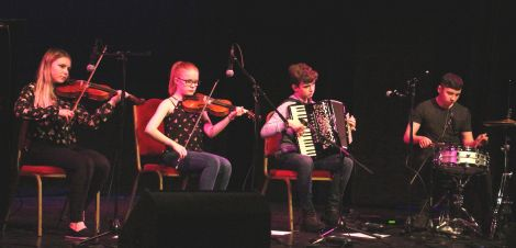 Talented young musicians Fjanna performing at last Thursday's Relay for Life launch concert.