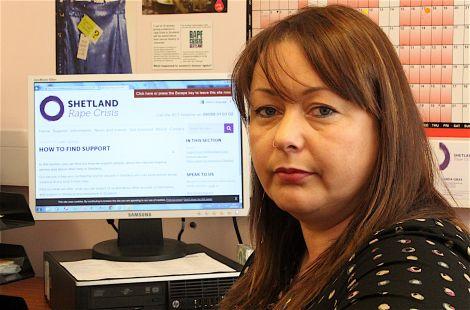 Linda Gray of Rape Crisis Shetland.