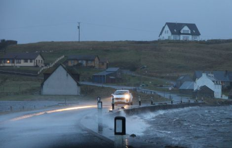Several flooding alerts are in place across Shetland - Photo: Shetland News