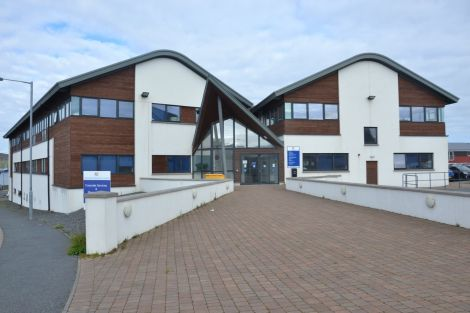 Shetland Islands Council's HQ at the North Ness.