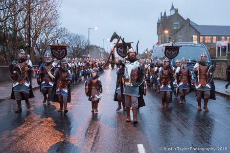 Lerwick Up Helly Aa gets under way. All photos: Austin Taylor