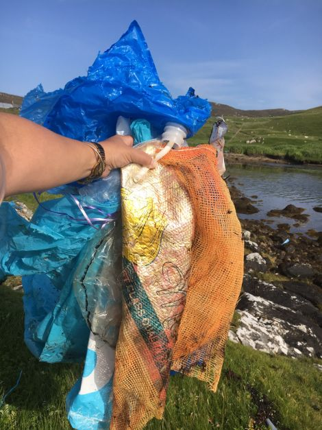 """""""Unfortunately, every bit of plastic ever made is still here on this planet – it only breaks up, it never goes away. Most of what I find are sadly plastic bottles and human laziness rubbish, especially in the summer from picnics and barbeques."""""""