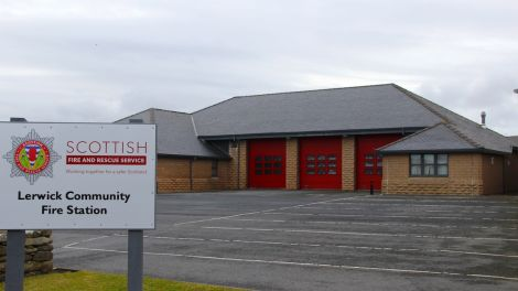 All quiet at Lerwick Fire Station. Photo: Shetland News