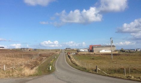 The project is now underway in Yell after first being announced last year. Photo: Shetland News