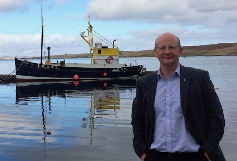 SOTEAG chairman David Paterson outside Shetland Museum and Archives. Photo: St Andrews University