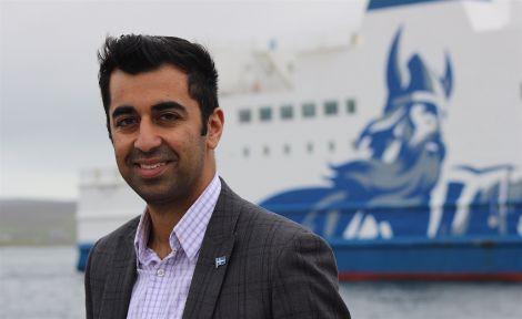 Humza Yousaf will visit the Northern Isles next week. Photo: Shetnews/Hans J Marter