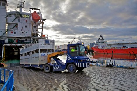 NorthLink's livestock carrier.
