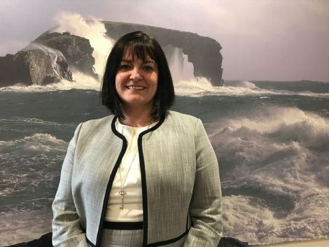 HIAL chairwoman Lorna Jack. Photo courtesy of BBC Radio Shetland.