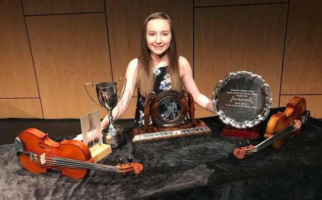 Emma Leask - 2018 Young Fiddler of the Year. Photo: Melvyn Leask