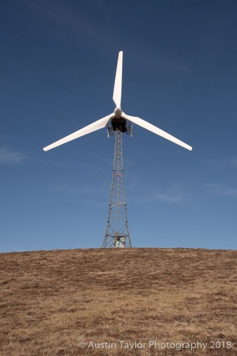One of the existing turbines, which is due to be replaced. Photo: Austin Taylor