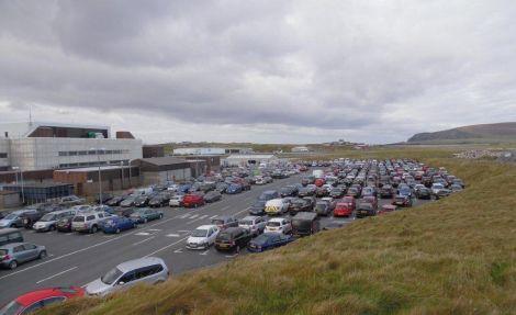 The Sumburgh Airport car park. Photo: Hans J Marter/Shetland News
