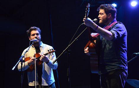 The Brother Brothers offering temperamentally dark Appalachian folk and Bluegrass harmonies. Photo: Zdenka Mlynarikova