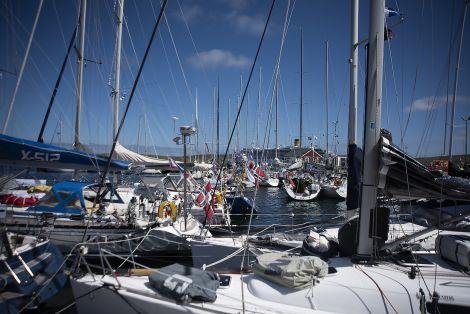 All 31 yachts participating in the Bergen - Shetland Race had arrived by Thursday evening. Photo: David Spence