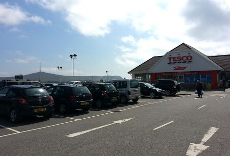 The Tesco store in Lerwick is one of two supermarkets in the town alongside the Co-op.