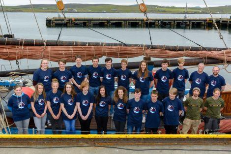 Shetland sail trainees and their mentors