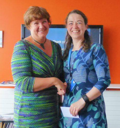 Prof Fiona McQueen  and Keri Ratter