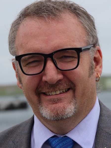 Former SIC leader Gary Robinson took up the reins as NHS Shetland chairman on Wednesday. Photo: Shetland News