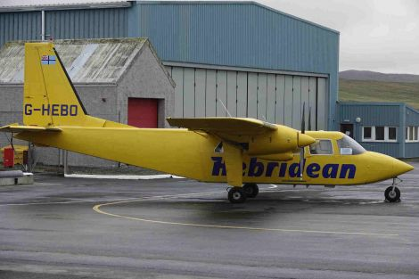 The inter-island flight schedule has been covered by a relief aircraft. Photo: Peter Johnson/Shetland News