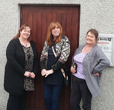 Three of the four women who attended the Up Helly Aa squad registration on Saturday, from left to right: Karrol Scott, Zara Pennington, Debra Nicolson.