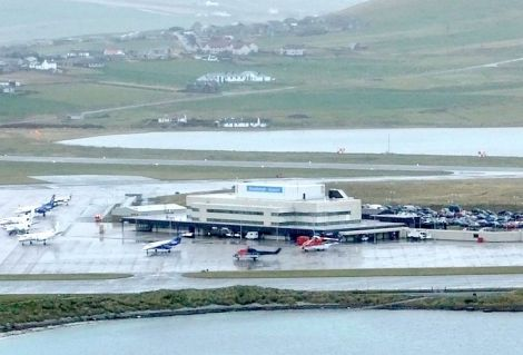 Sumburgh Airport has seen record passengers.