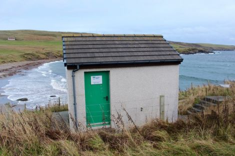 The Gulberwick pumping station. Photo: Shetland News