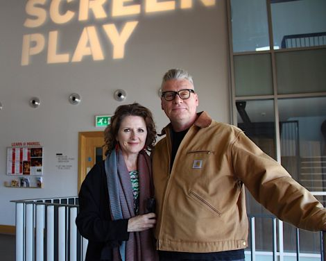 Curators Linda Ruth Williams and Mark Kermode: 'We've had a lot of social media attention in the lead up to and during the festival'. Photo: Hans J Marter/Shetland News