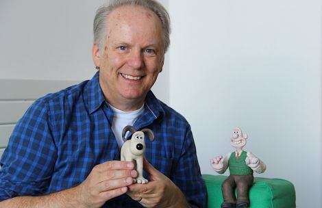 Wallace and Gromit creator Nick Park at Mareel this weekend. Photo: Hans J Marter/Shetland News