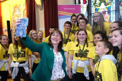 The BIG Takeover weekend has been launched by Maree Todd, Scottish Government minister for children and young people, at Lerwick Town Hall on Friday morning. Photo: SIC