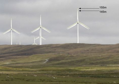 An artist's impression of the bigger turbines. Photo: Viking Energy.